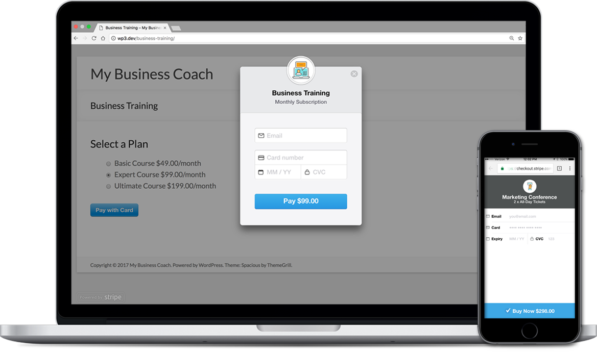 stripe payments plugin for wordpress wp simple pay