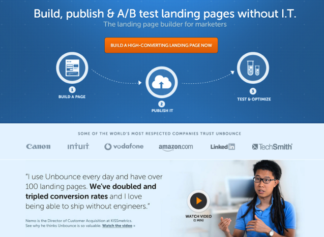 Landing page copy