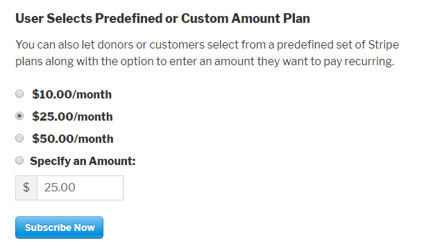 suggested donation list